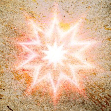 old red grunge star flash Banco de Imagens