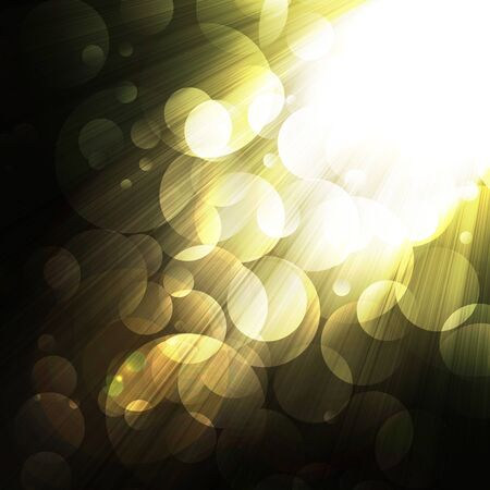 shining rays of glare  on a dark background, abstract Banco de Imagens