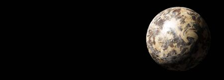 planet earth in the starry background,abstract Banco de Imagens