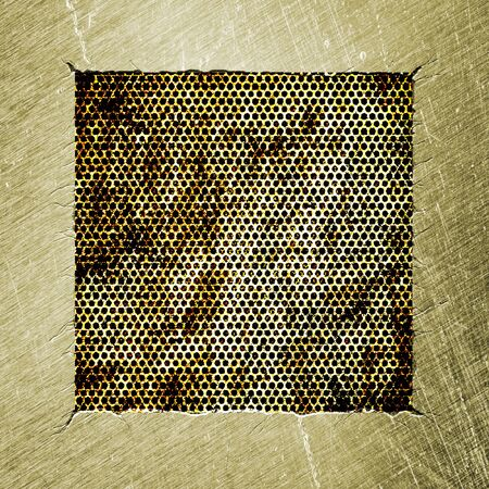 metal frame, an abstract grunge background