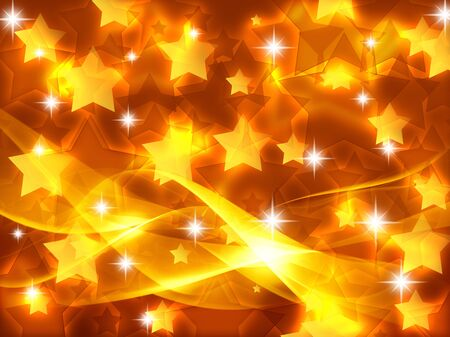 Abstract background with luminous stars. Banco de Imagens