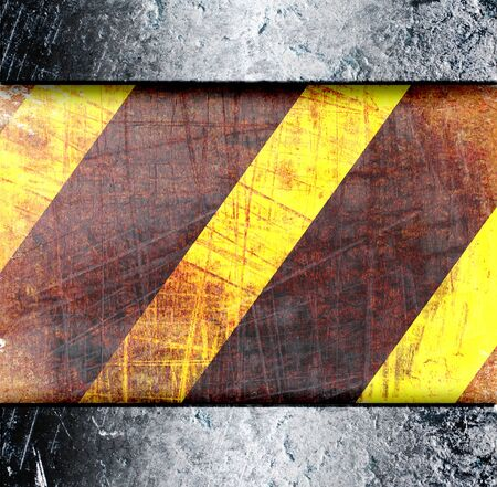 Warning Background Texture With Common Black and Yellow Stripes