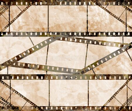 old film strip with some spots Banco de Imagens