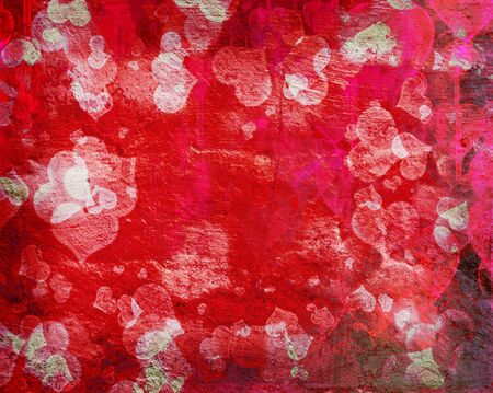 grunge love pattern background with some stains on it Banco de Imagens