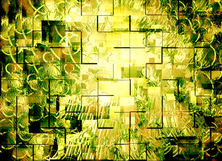 abstract, bright sun in a golden background