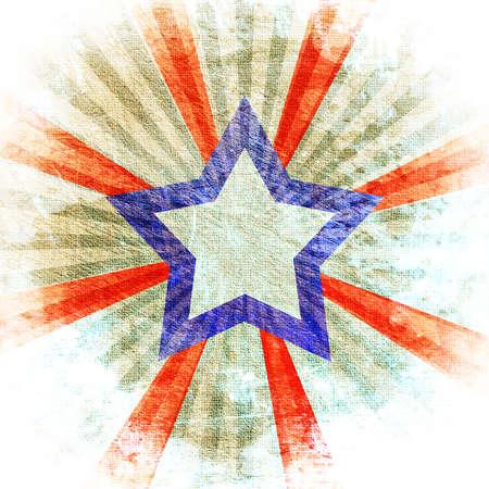 abstract star on light grunge background Stockfoto