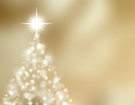 Shinny Christmas Tree, abstract background. Stockfoto