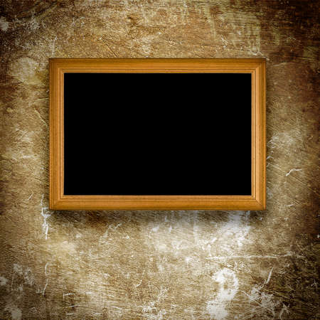 old frame on grunge background
