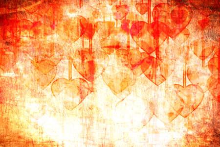 Heart on Grange background, an abstract figure Stockfoto