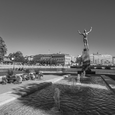 Statue in Stockholm city