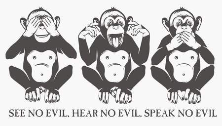 three animals: The three wise monkeys