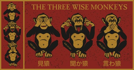 no idea: The three wise monkeys