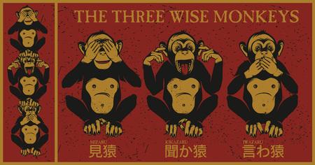 triplets: The three wise monkeys