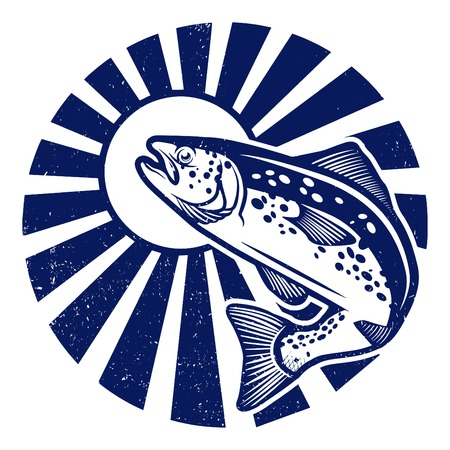 Trout fishing Illustration