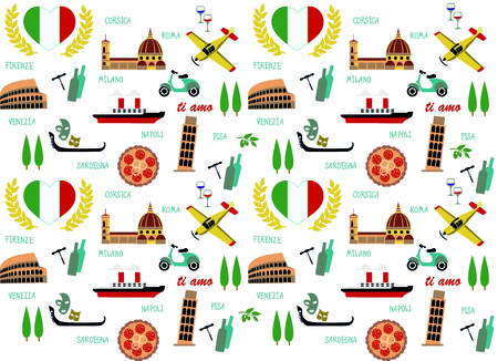 이탈리아 패턴 일러스트