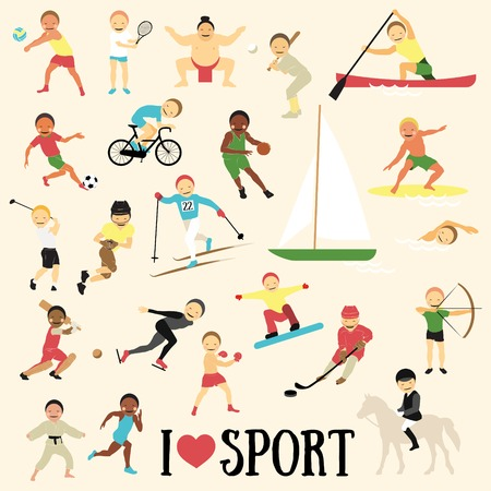 archer cartoon: Pattern with sportsmen Illustration