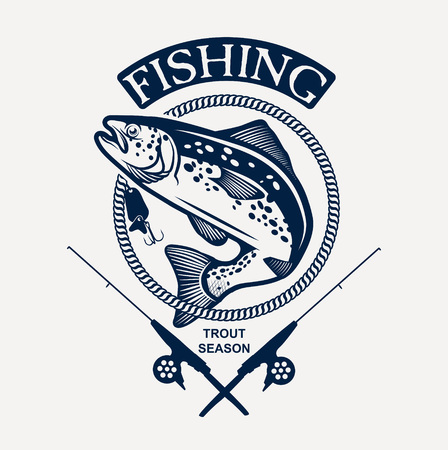 Forel vissen Stock Illustratie
