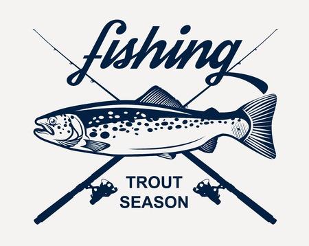 Trout fishing  イラスト・ベクター素材