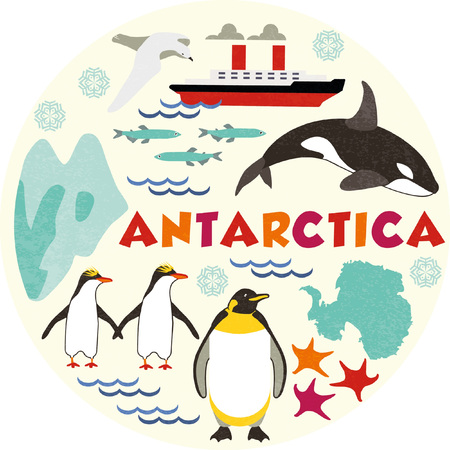 Antarctica Illustration