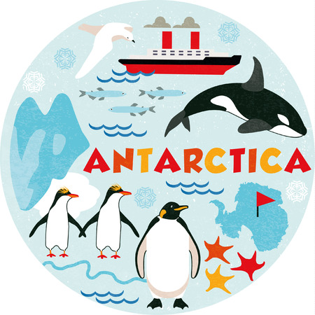 igloo: Antarctica Illustration