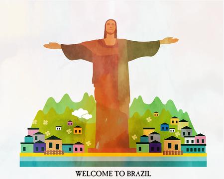 Brazil card Vector