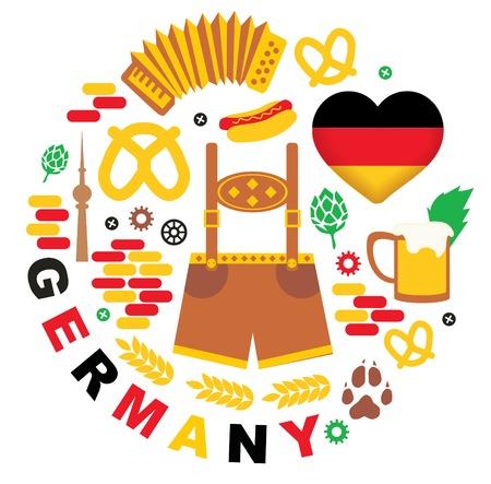 bandera alemania: Modelo con los Iconos de Alemania