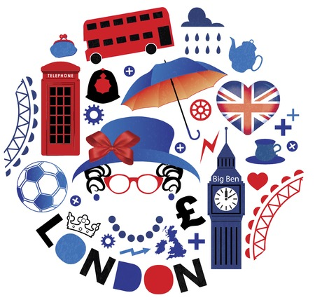 Pattern with London symbols Vector