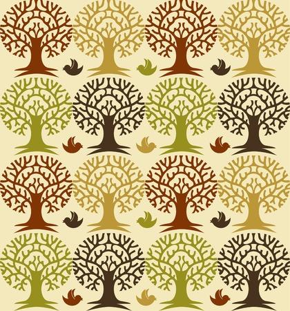 squeal: Cartoon foresta modello Vettoriali