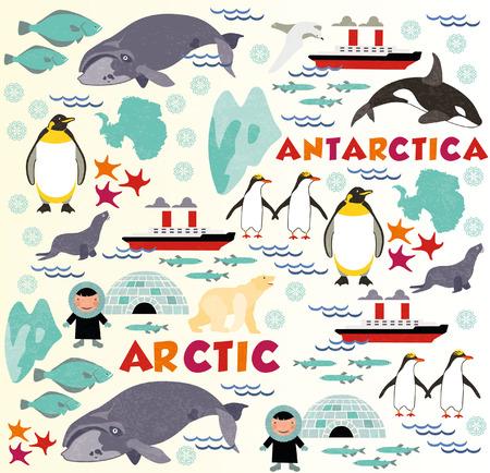 eskimos: North pattern Illustration