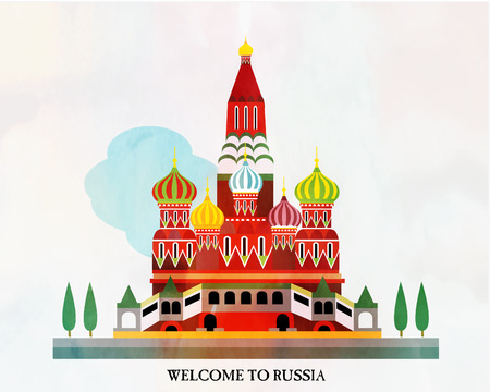 Russia card Vector