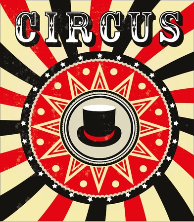 Circus hat getting showered ,vintage Poster