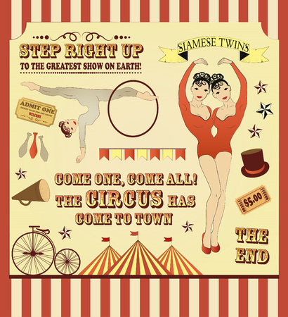 circus stage: Circus Starr getting showered ,vintage Poster
