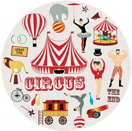 circo: Circo Starr conseguir duchado, cartel del vintage