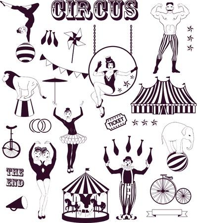 서커스 스타 샤워를 받고, 빈티지 포스터