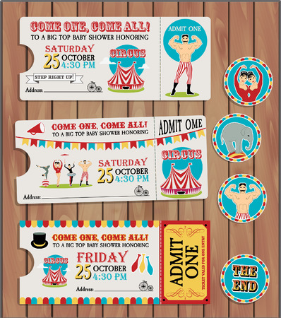 Circus Ticket on tree background Imagens - 37143779