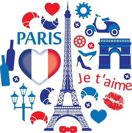 i love paris: Paris illustration Illustration