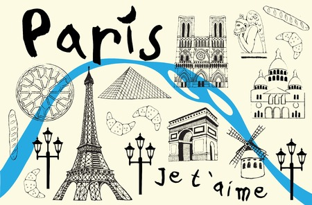 parfume: Paris illustration Illustration