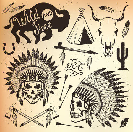 indian chief headdress: Copricapo capo indiano, capo indiano mascotte, indiano copricapo tribale, indiano copricapo.