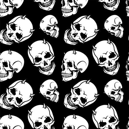 foe: Skull pattern. Black pattern foe bikers