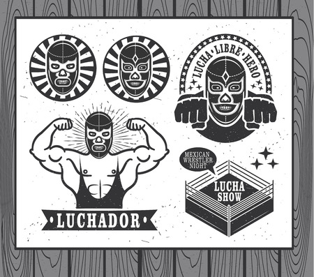 mexican culture: Mexican wrestler set. Lucha Libre