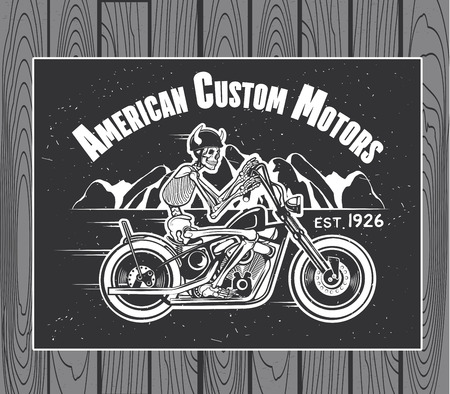 esqueleto: Ilustraci�n Esqueleto del jinete de la motocicleta Vector Vectores