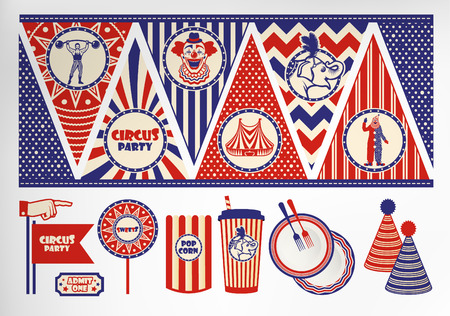 circus vector: Circus Ticket on tree background. Vector illustration