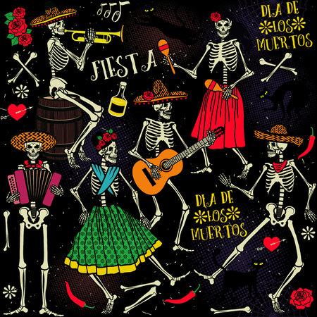 Dzień śmierci . Taniec szkielet.