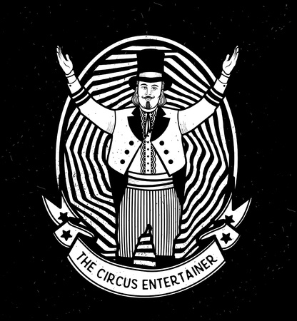 entertainer: The Circus Entertainer.  Vector illustration. Illustration of circus star.