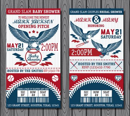 Ensemble d'étiquettes de baseball vintage et badges. Vector illustration. Vecteurs
