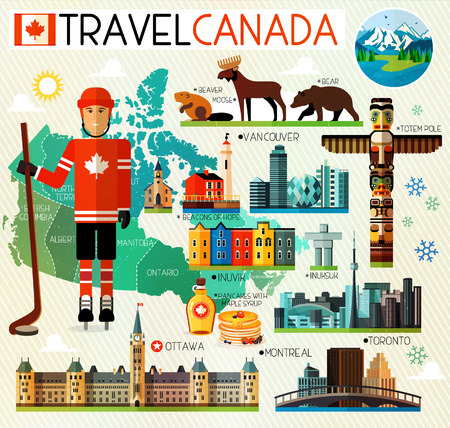 Set of Various Canada Icons Stock Vector - 56788976
