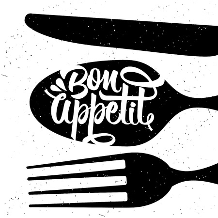 appetite: Hand drawn typography poster. Inspirational vector typography. Bon appetit. Vector calligraphy. Illustration