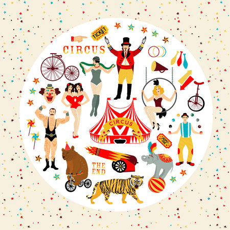 tabernacle: Circus collection. Illustration