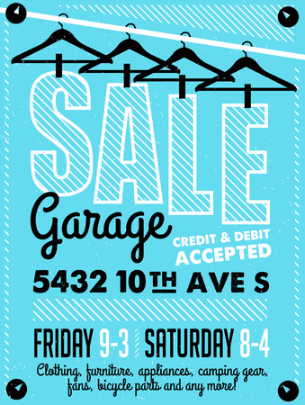 yards: Garage Sale Poster Illustration