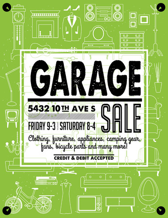 Garage Sale Poster Stock Vector - 80538078